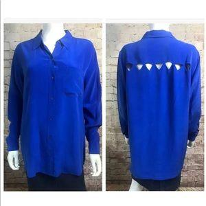 Equipment Femme Silk Med Royal Blouse Long Sleeve